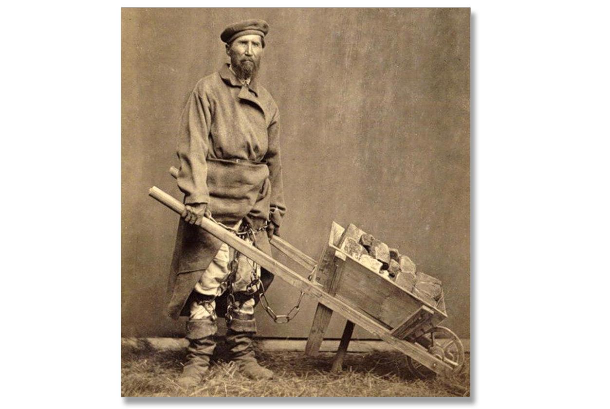 Zesłaniec na Sybir w przedostatniej dekadzie XIX w. Źródło - mywebs.su