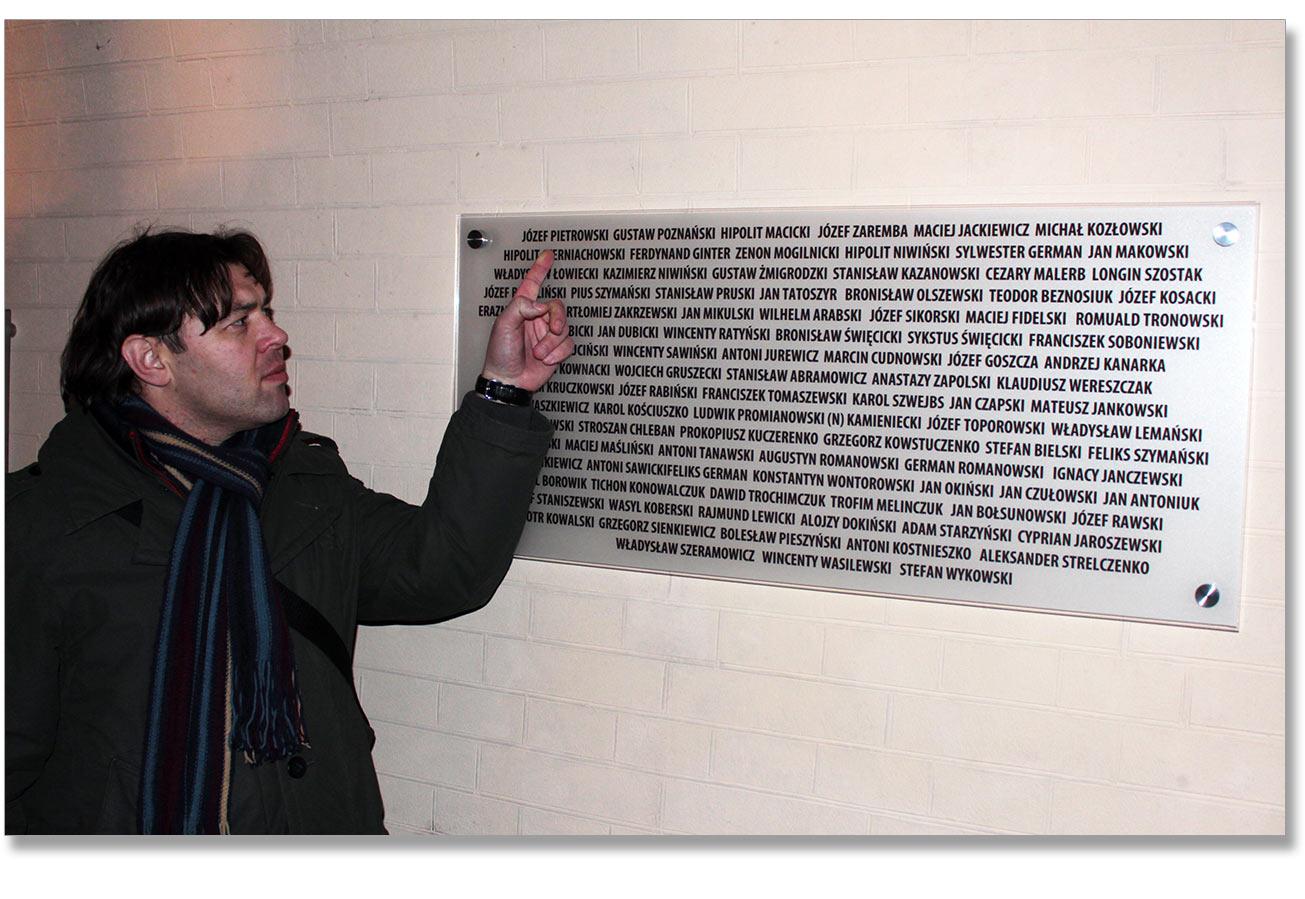 Gość z Winnicy Wacław Siwajew, którego babcia nosiła nazwisko Pietrowska, odnalazł na tablicy możliwego swojego przodka