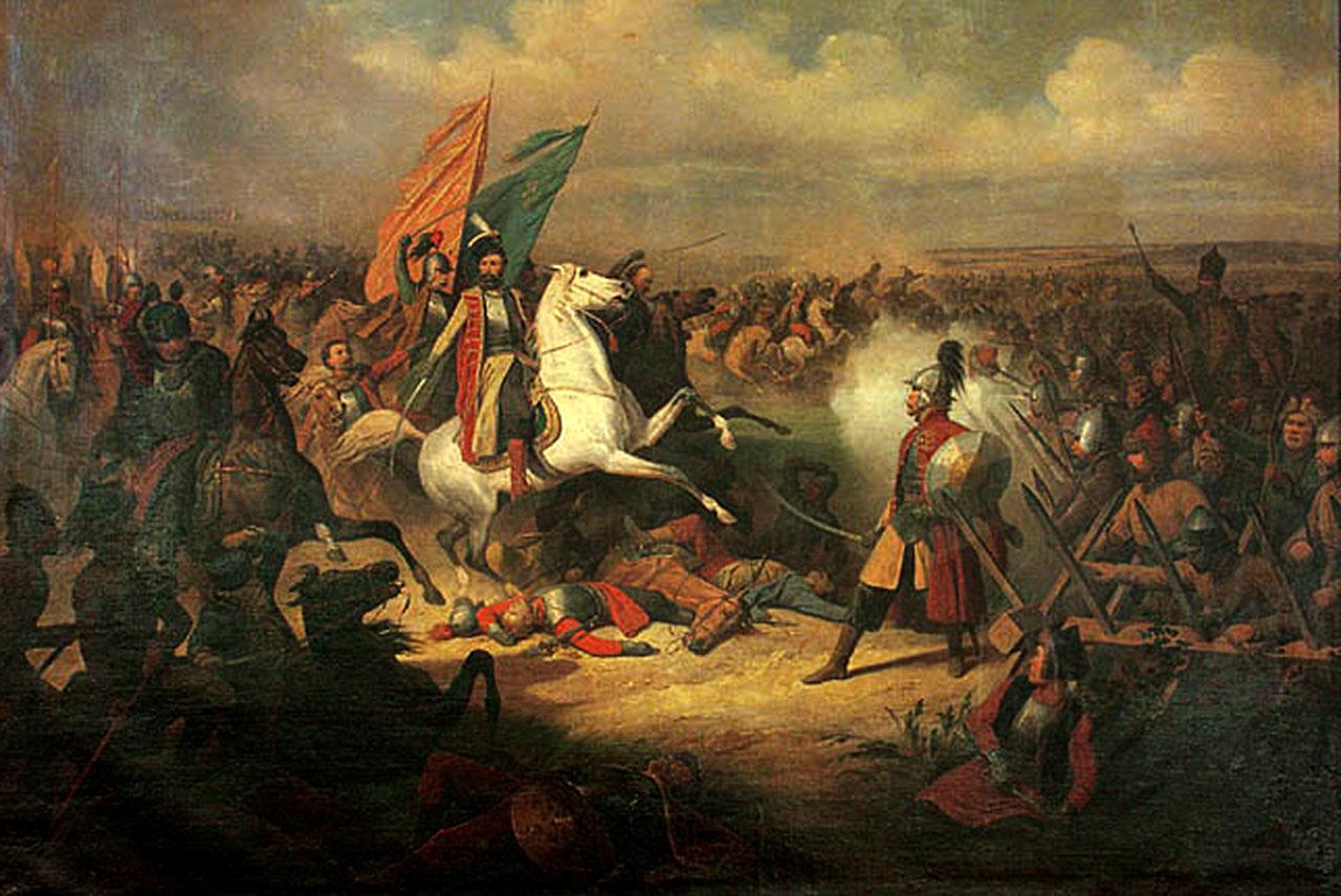 Stefan Czarniecki w czasie wojny polsko-rosyjskiej (obraz Januarego Suchodolskiego, XIX wiek)