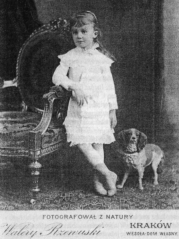 Jedno z pierwszych zdjęć Marysi Sobańskiej zostało wykonane w Krakowie
