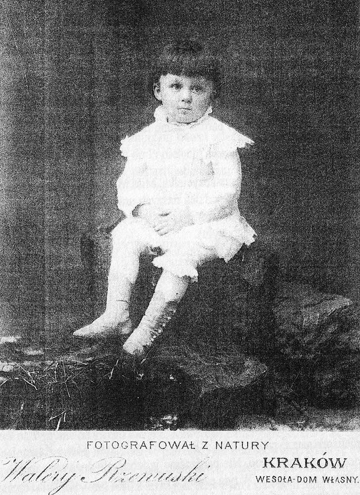 Malutki Zdzisław Grocholski - później znany winnicki przedsiębiorca