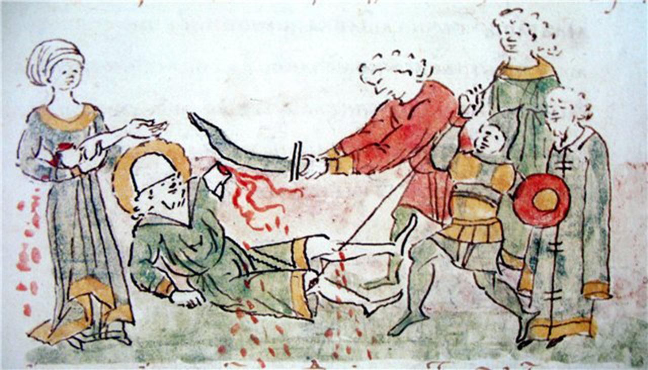 Atak i masakra w Kijowie po ataku suzdalców na czele z Andriejem Bogolubskim