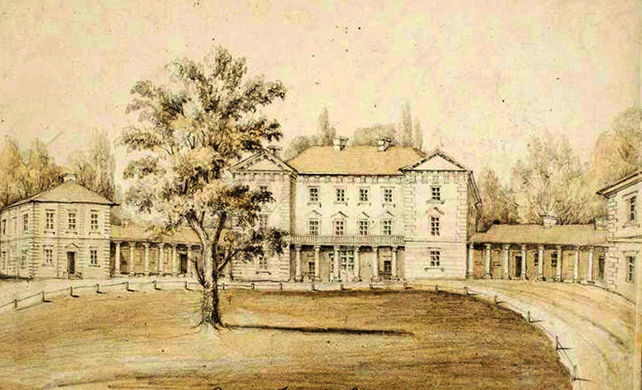 Były pałac Grocholskich w Pietniczanach pod Winnicą. Obecnie - szpital endokrynologiczny
