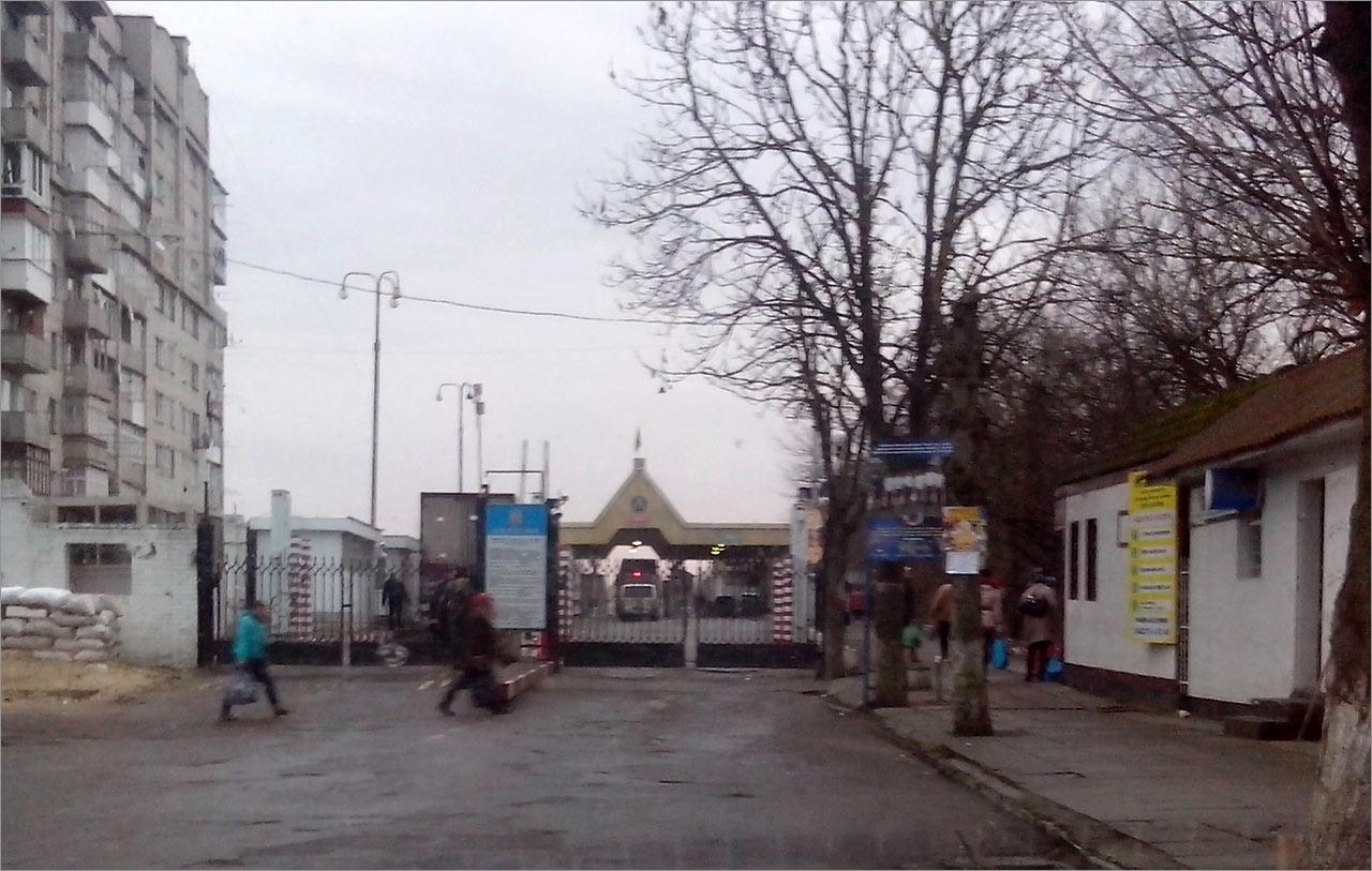 Przejście graniczne do Mołdawii ze strony Ukrainy w Mohylewe Podolskim