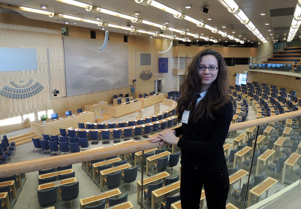 Winniczanka Inna Sandiuk w szwedzkim parlamencie Riksdag