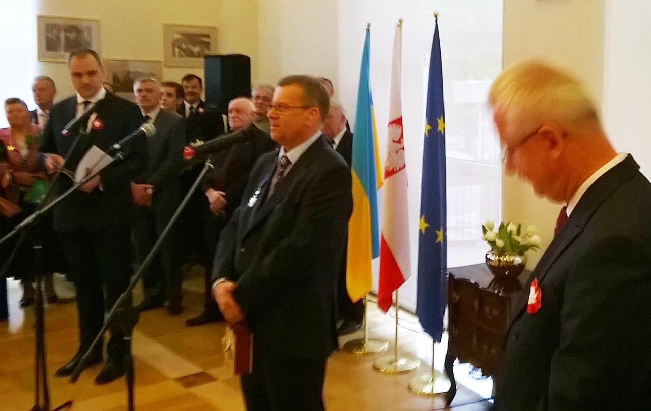 Mirosław Rowicki przy mikrofonie