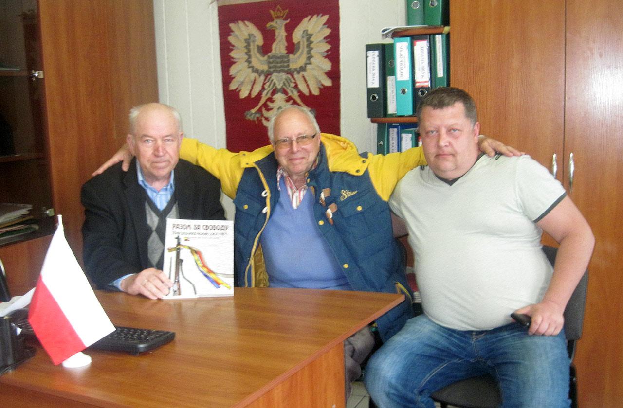 Od lewej - Franciszek Miciński, Stanisław Gabriel Cichocki oraz Oleg Spiwak