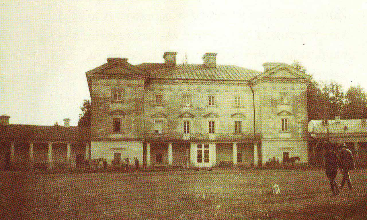 Zdjęcie pałacu w Pietniczanach z pocz. XX w.