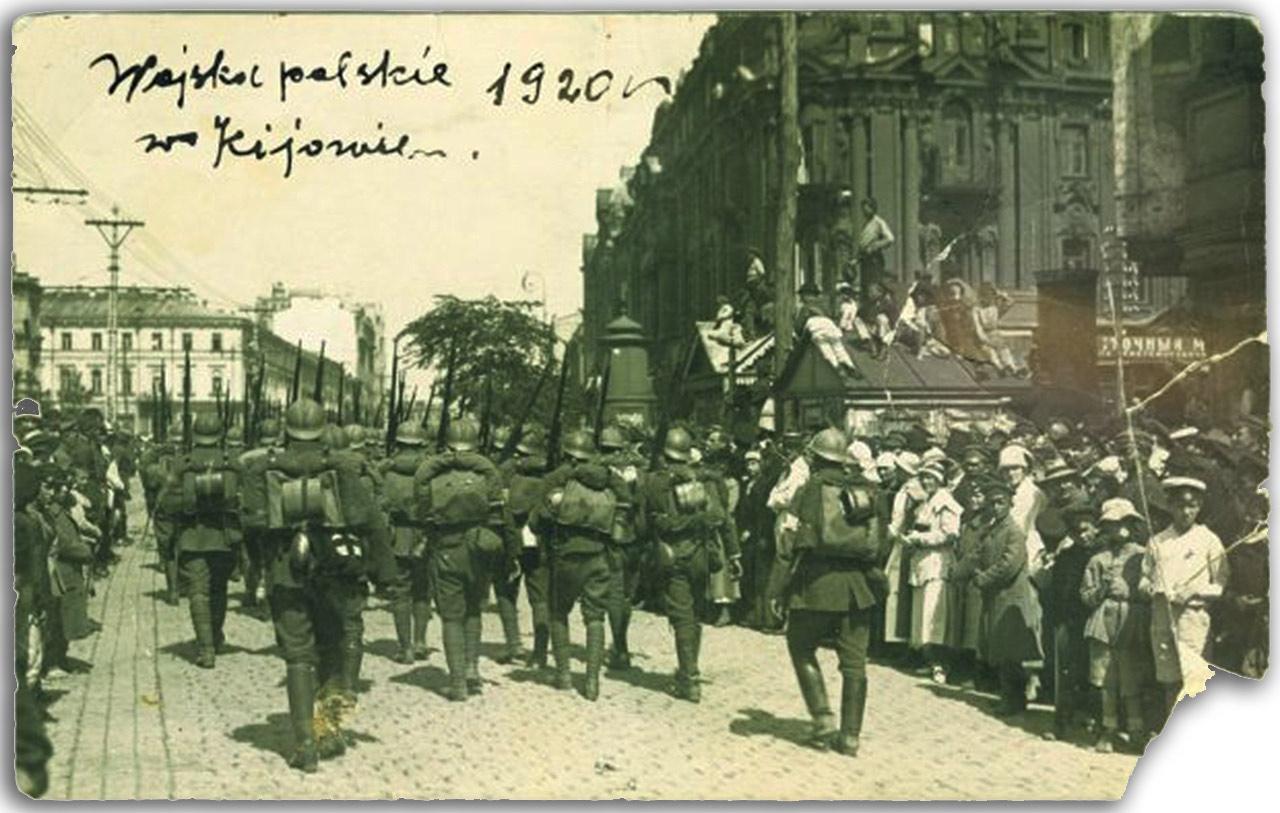Defilada WP w Kijowie. 7 maja 1920 r. Źródło - wyborcza.pl