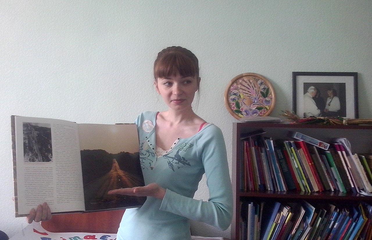 Irena Troskot w trakcie wykładu