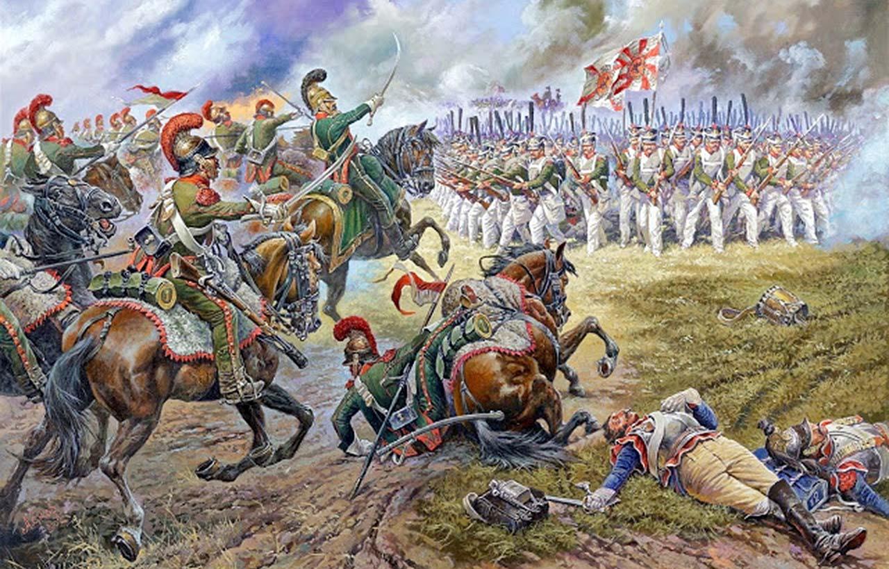 Bitwa o Moskwę 1812. Generał Dąbrowski prowadzi Polaków do boju