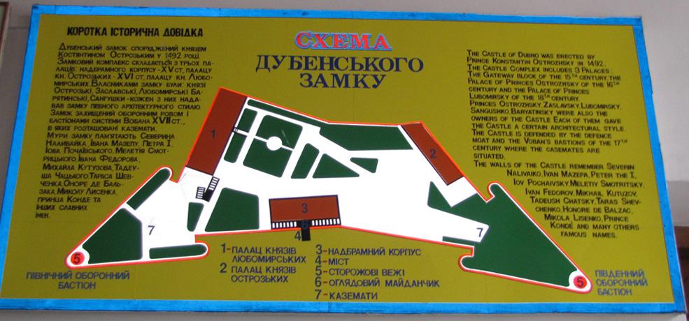 Schemat zamku w Dubnie. Źródło - varandej.livejournal.com