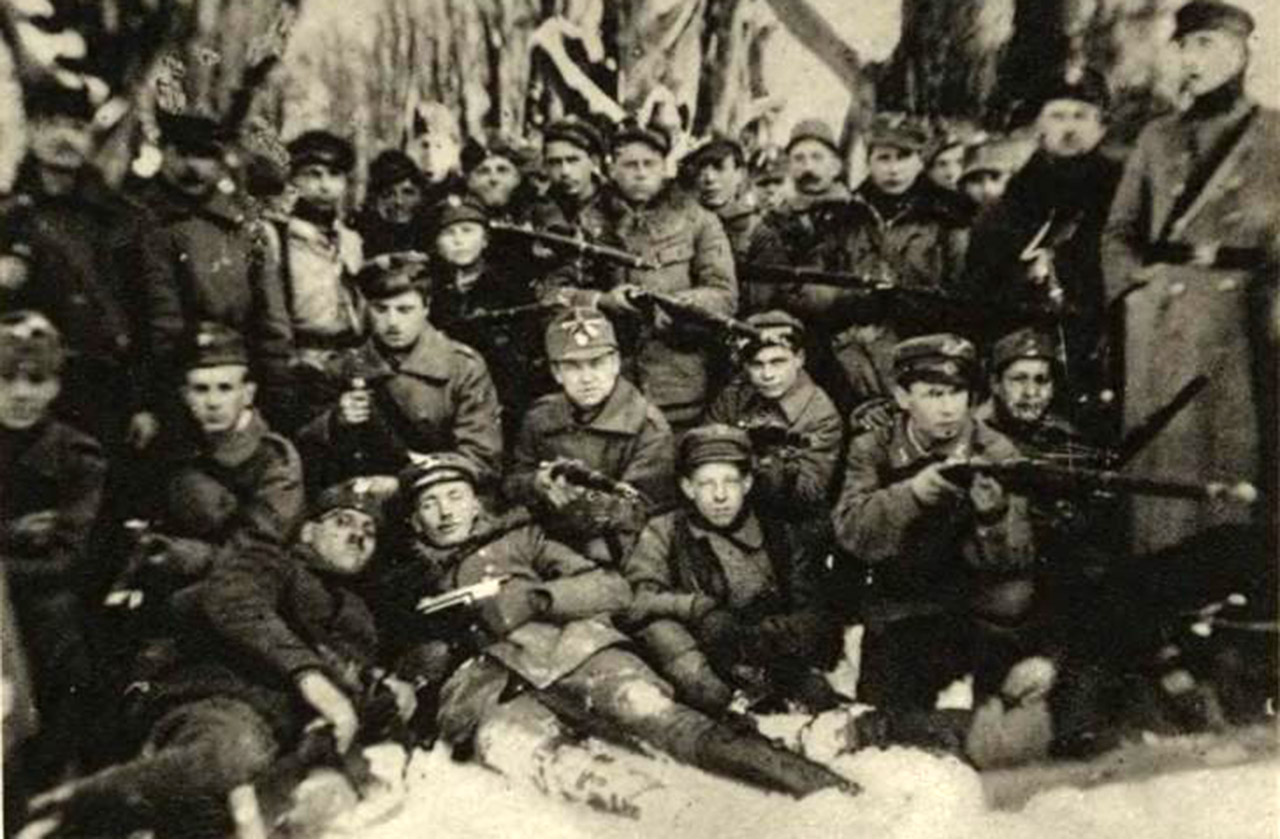 Polacy broniący Lwowa pod koniec 1918 roku