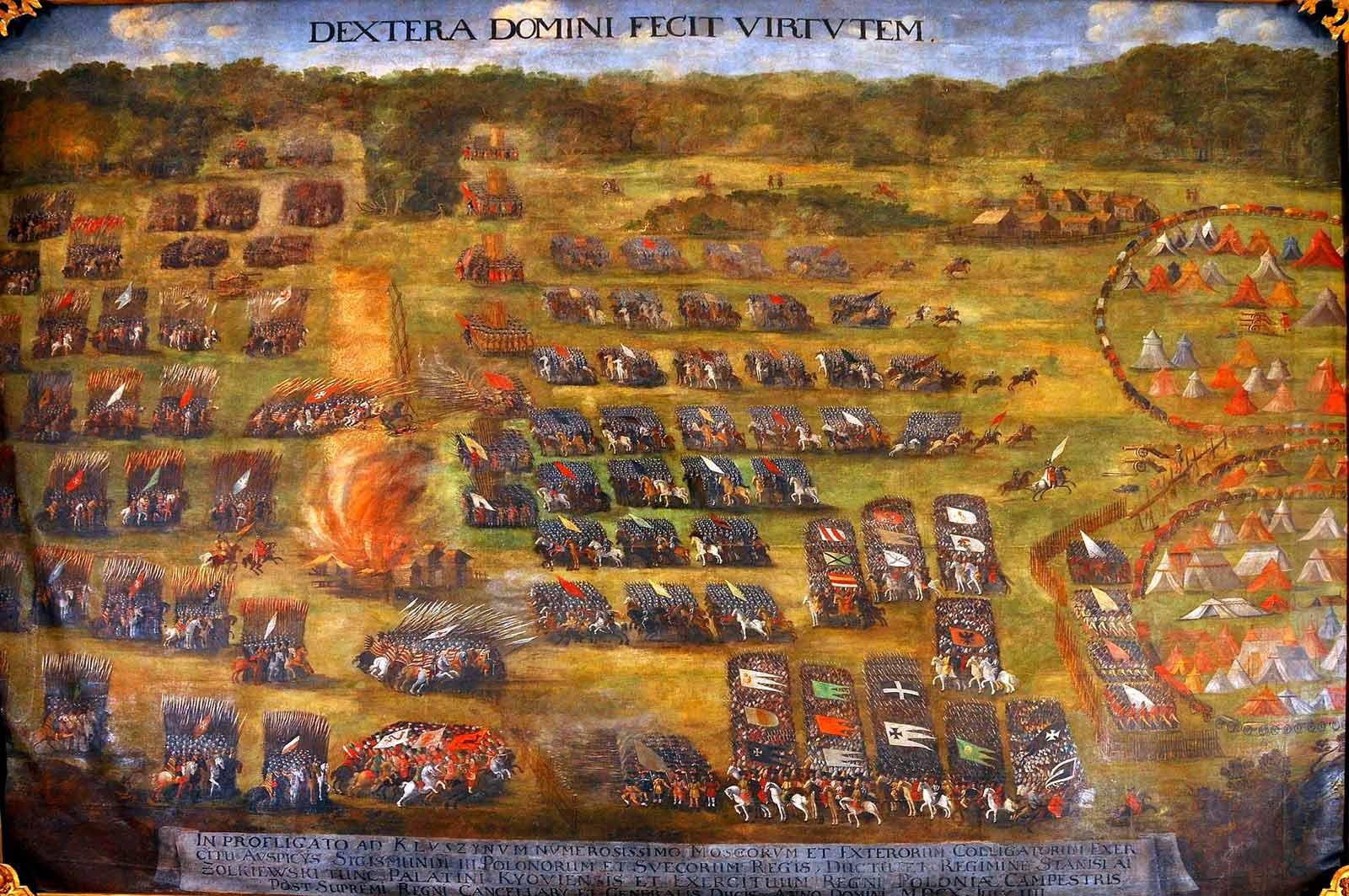 Bitwa pod Kłuszynem (obraz autorstwa Szymona Boguszowicza, ze zbiorów Lwowskiej Galerii Sztuki, około 1620 roku)