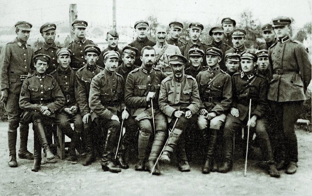 Internowani ukraiscy oficerowie w Wadowicach. 1921 r.