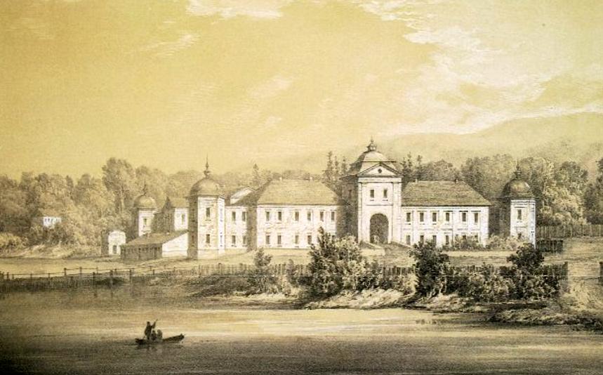 Pałac Świejkowskich w Szpikowie. Szkic Napoleona Ordy. Lata 80. XIX w.