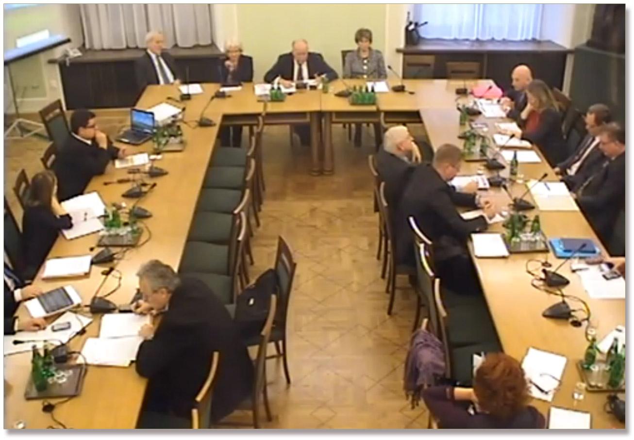 Zdjęcie odnosi się do poprzedniego posiedzenia komisji z listopada. Źródło - senat.gov.pl