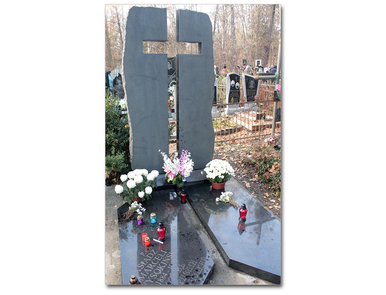 Mogiła ks. Wysokińskiego na cmentarzu miejskim w Winnicy