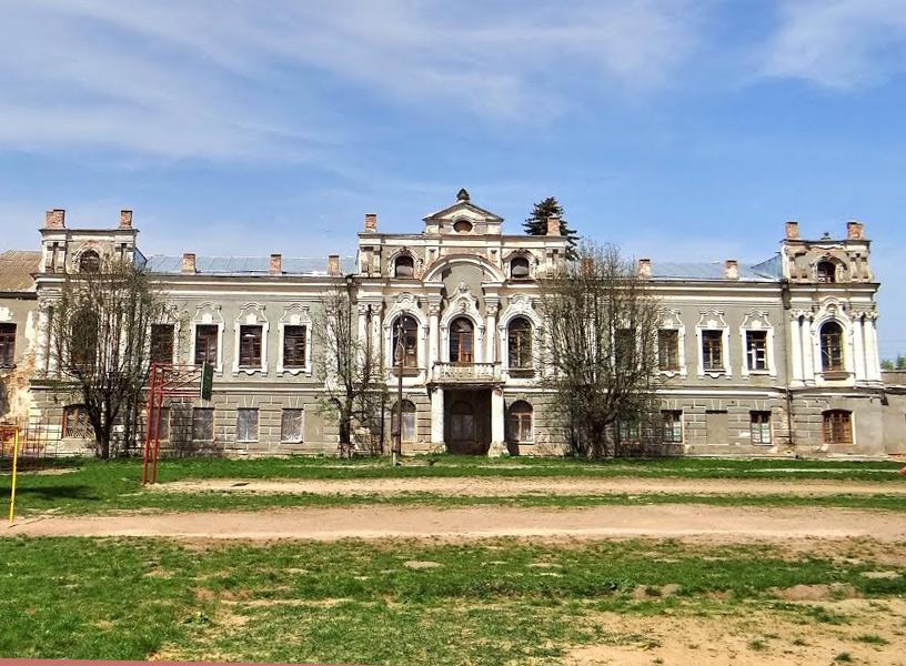 Pałac Zdziechowskich w Pryłuce Starej. Kopia kijowskiego pałacu Maryjskiego. Źródło - panoramio.com