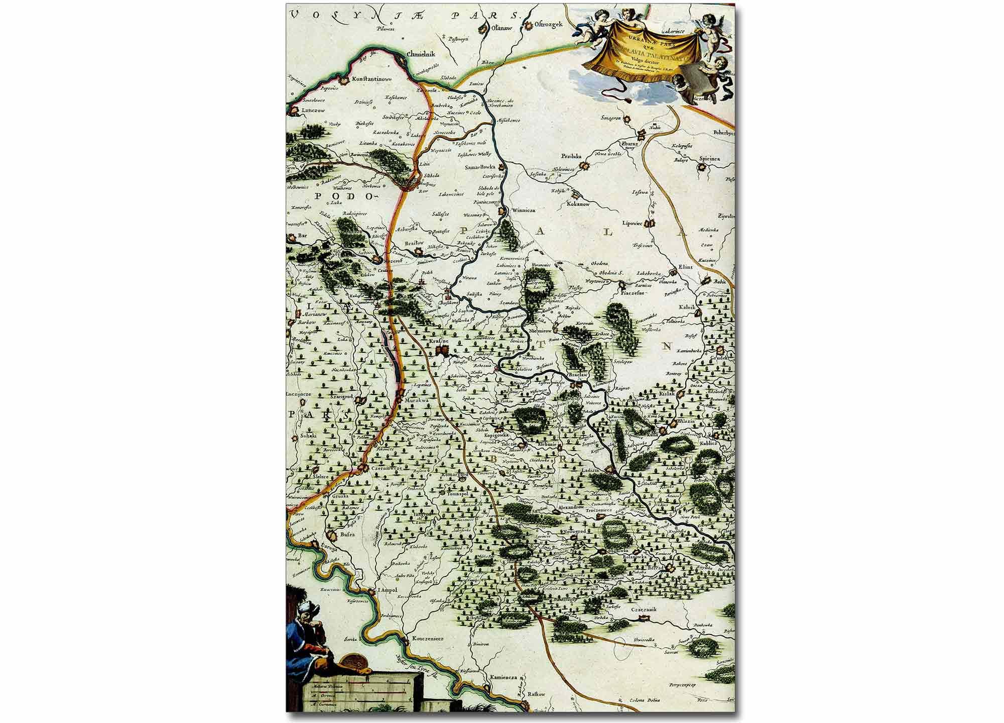 Mapa Wschodniego Podola i Bracławszczyzny z II połowy XVII wieku.