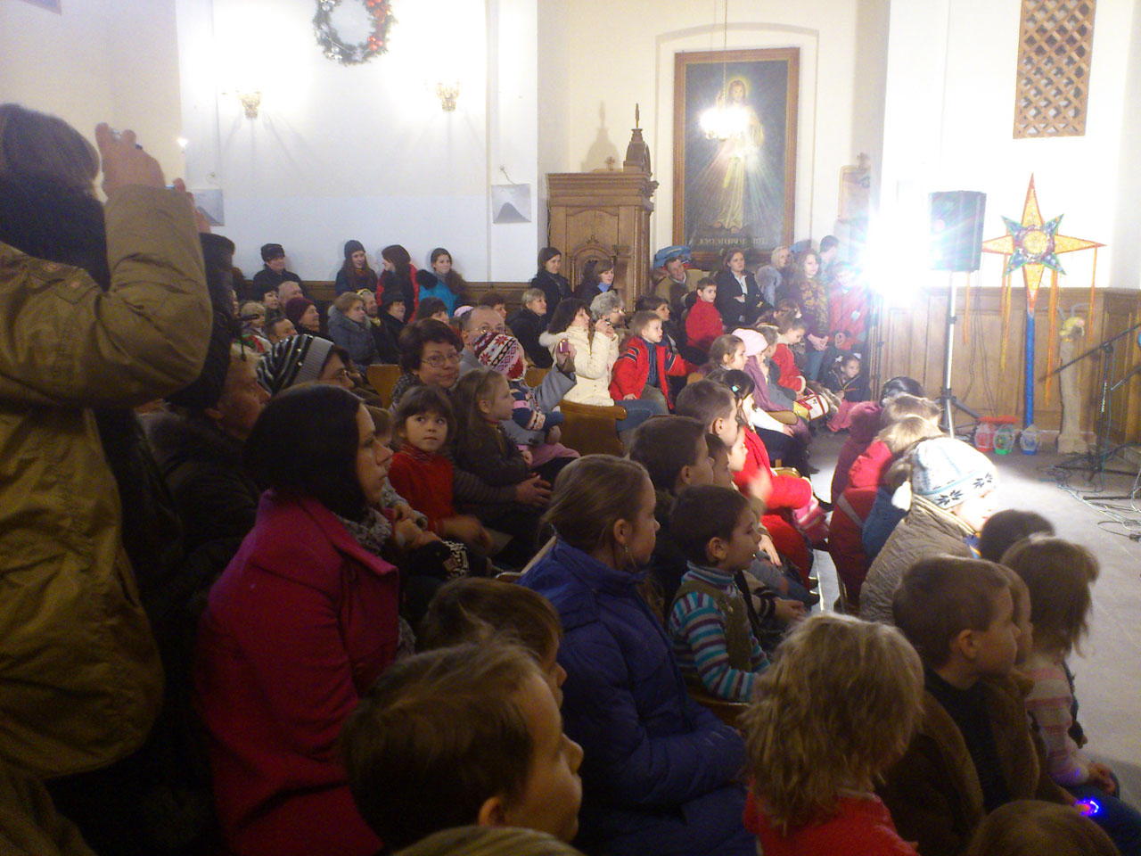 Zdjęcie zrobione podczas koncertu winnickiej Arki Noego 09 stycznia br