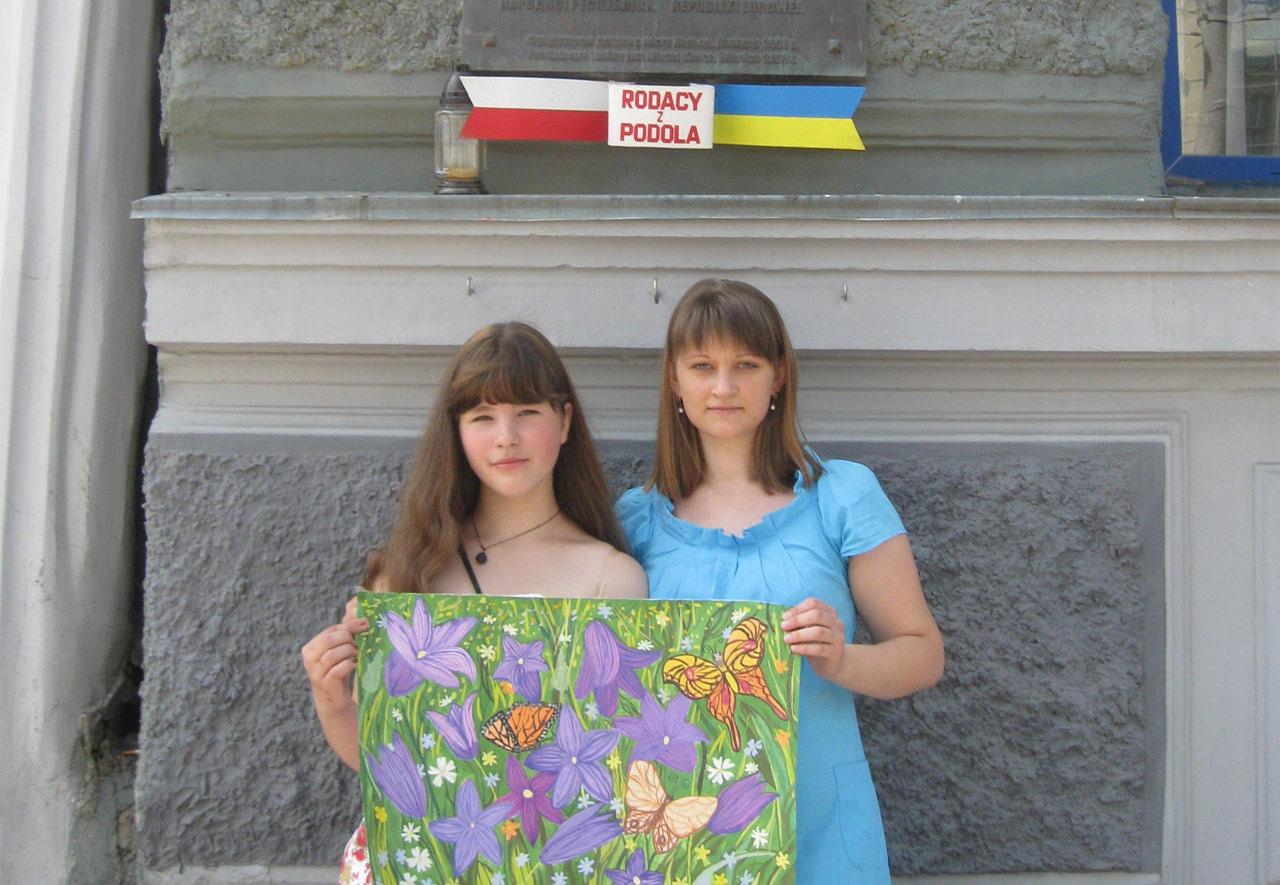 Natalia Dymnicz ze swoją pierwszą nauczycielką języka polskiego Panią Alisą Paczewską