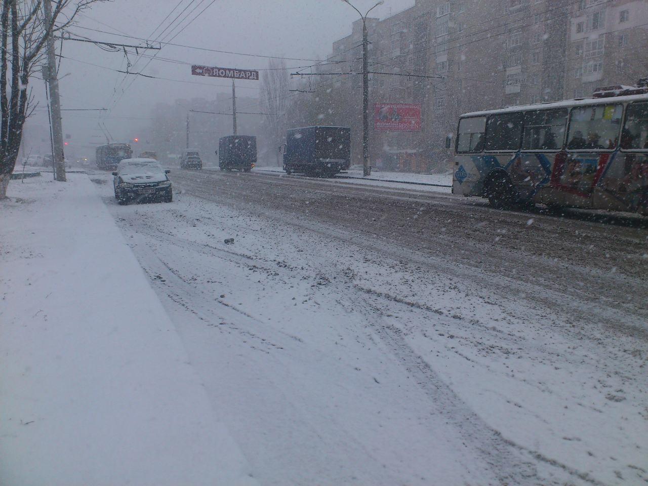 Na zdjęciu ul. Kielecka w Winnicy - 03.12.12