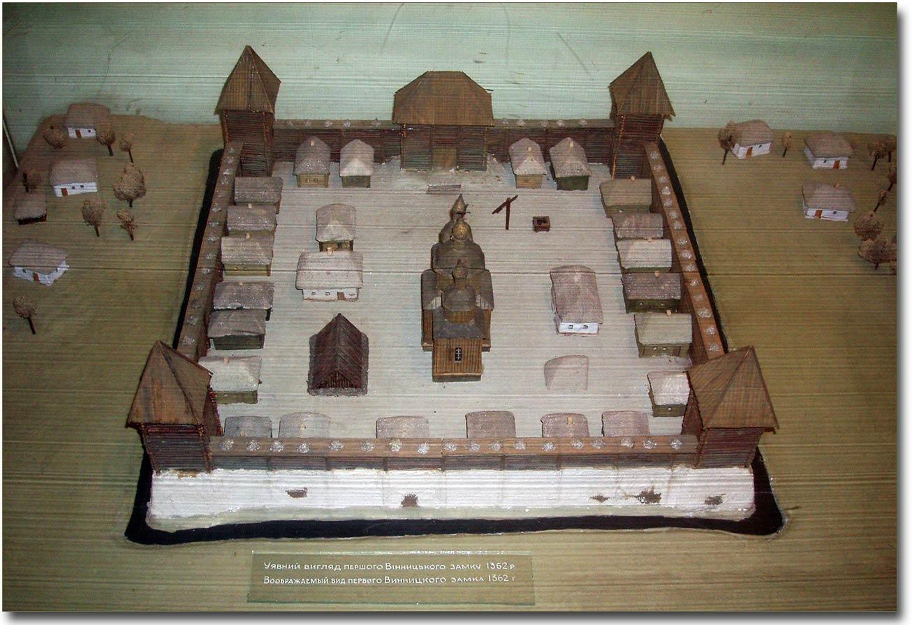 Makieta winnickiego zamku w Obwodowym Muzeum Krajoznawczym