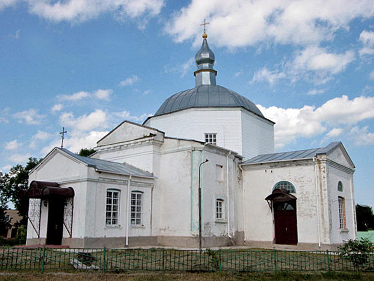 Kamienna cerkiew Wniebowzięcia Najświętszej Maryi Panny z 1821 roku w Piatyhorach. Źródło - ukrainaincognita.com