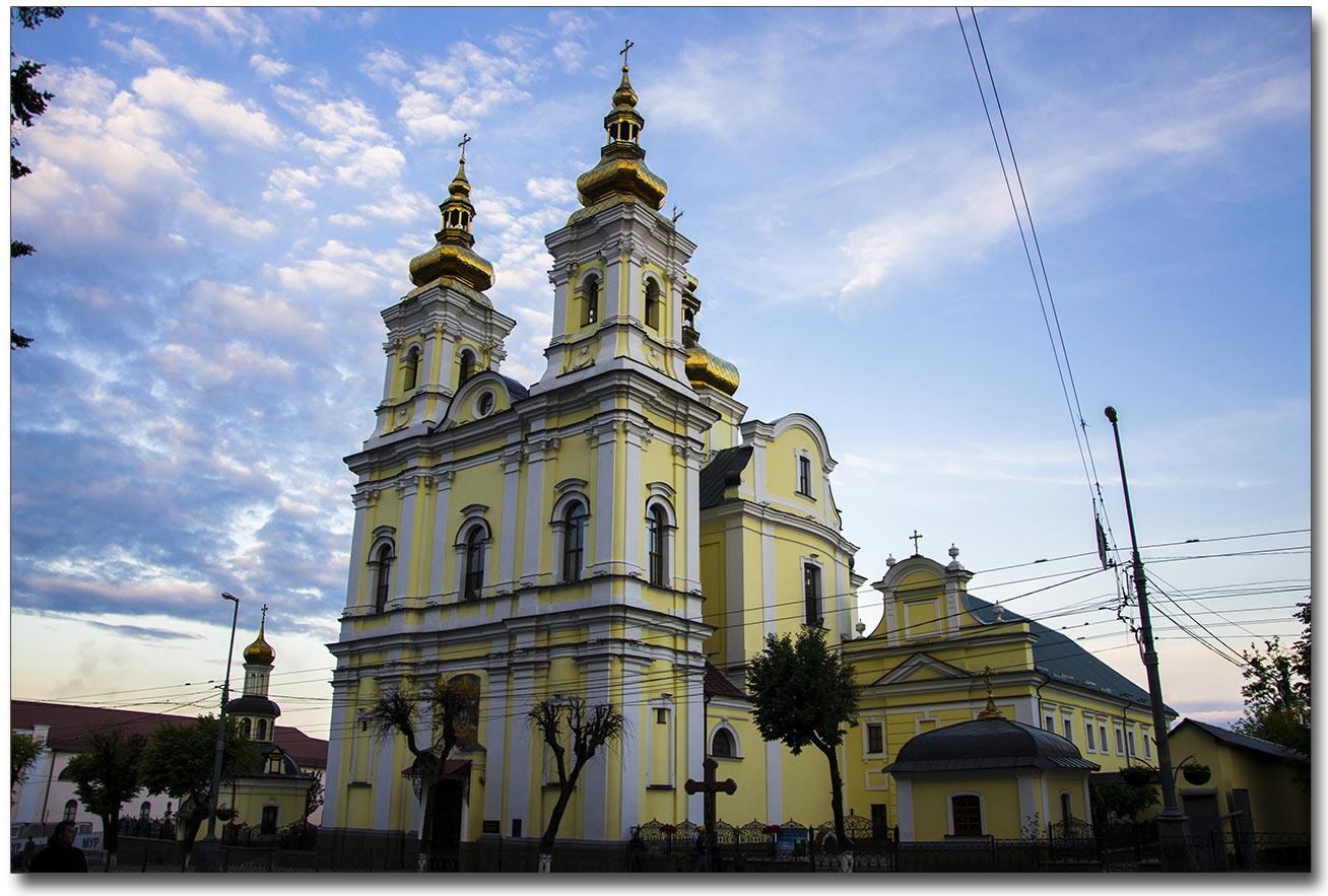 Obecny wygląd kościoła dominikanów - dziś sobora prawosławnego. Autor zdjęcia - Mikołaj Bachur