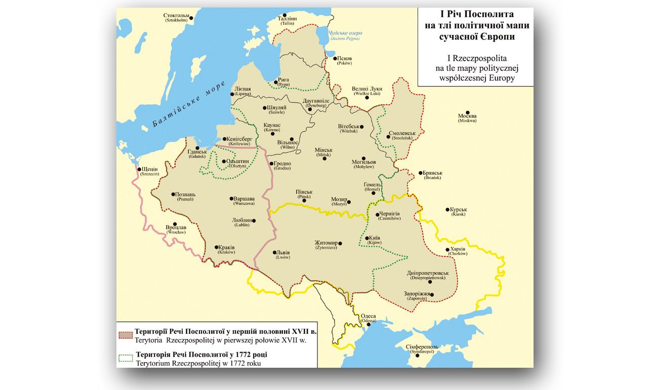 Mapa udostępniona przez Fundację Polonia-Ruthenia