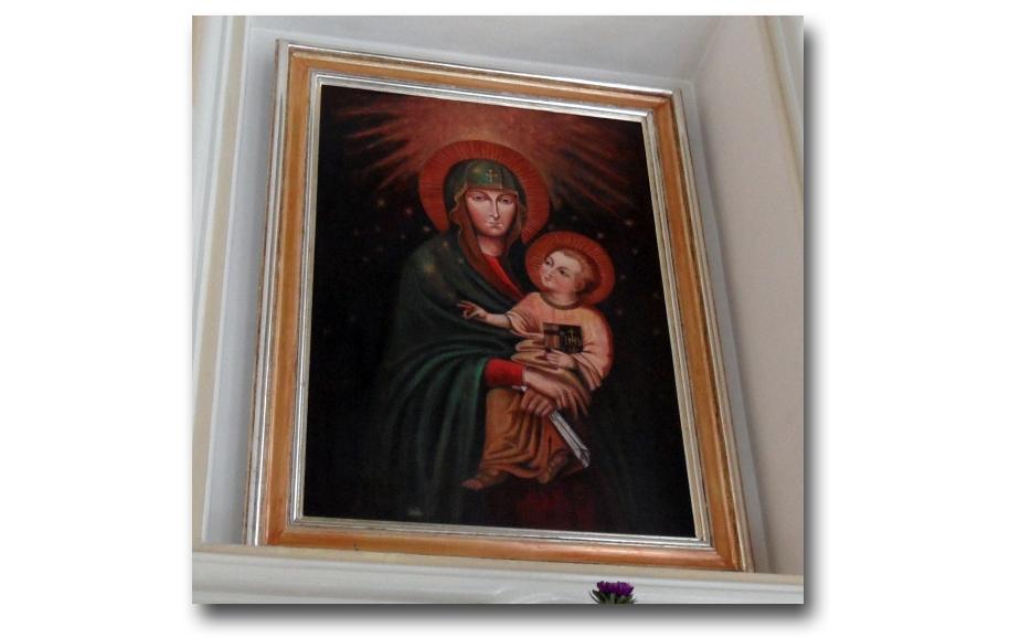 Ikona Matki Latyczowskiej - obecna kopia, znajdująca się w Sanktuarium Latyczowskim - zdjęcie pobrano z http://tadeuszczernik.wordpress.com