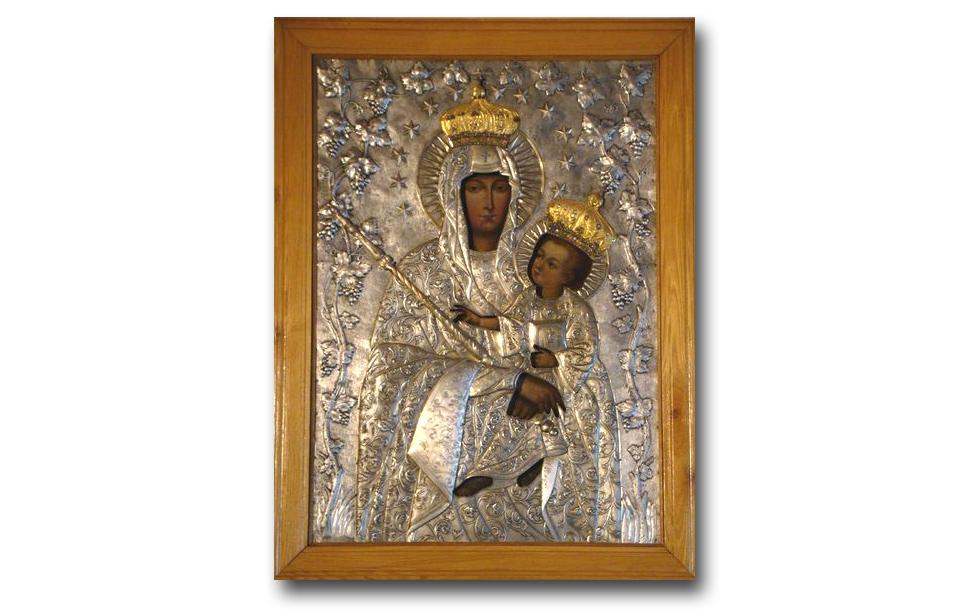 Oryginalny obraz, znajdujący się w kaplicy sióstr służebniczek NMP w Lublinie - zdjęcie pobrano z http://tadeuszczernik.wordpress.com