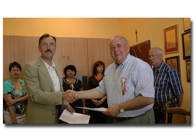 Dyrektorzy polskiego oraz ukraińskiego zaprzyjaźnionych ośrodków na Ukrainie i w Polsce