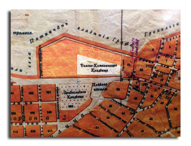 Stara rosyjska mapa Winnicy z 1915 roku