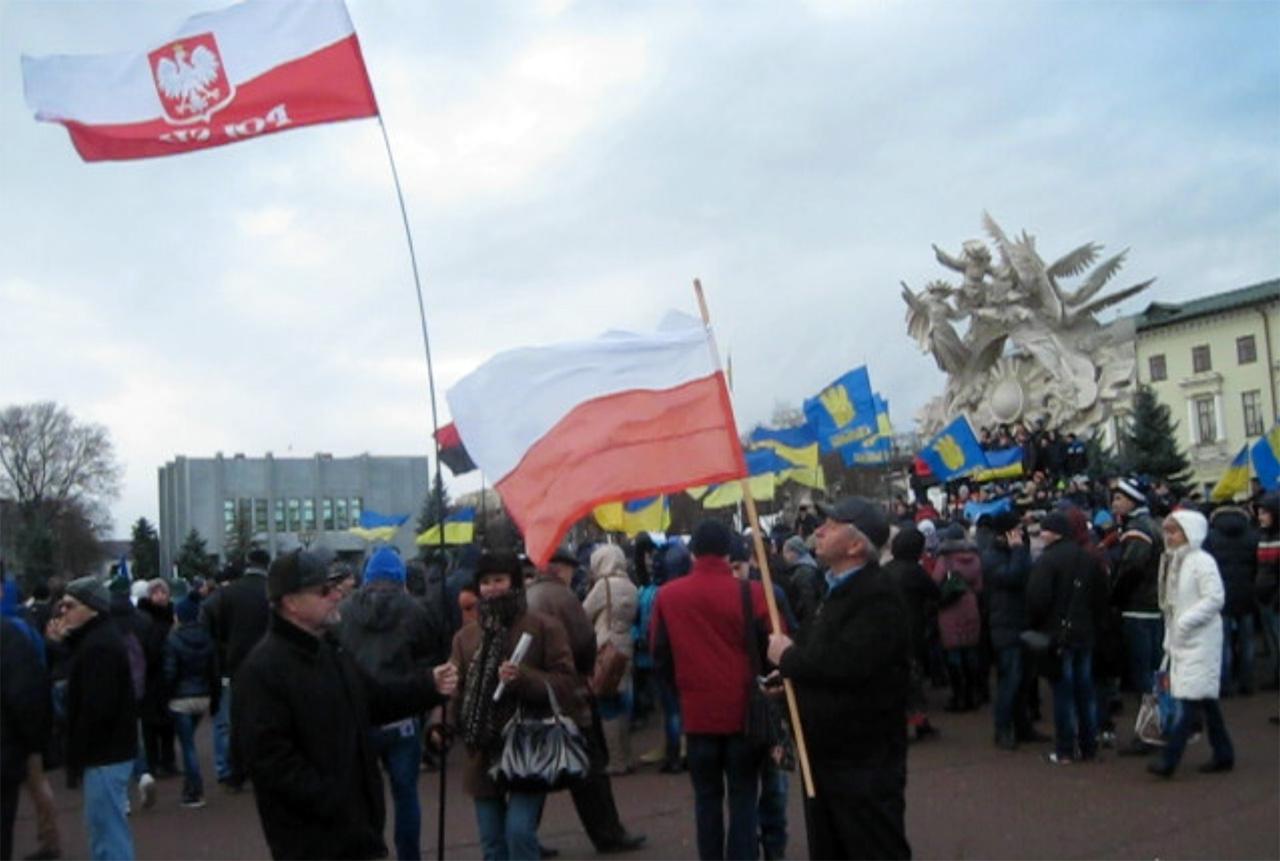 Euromajdan z udziałem Polaków w Chmielnickim