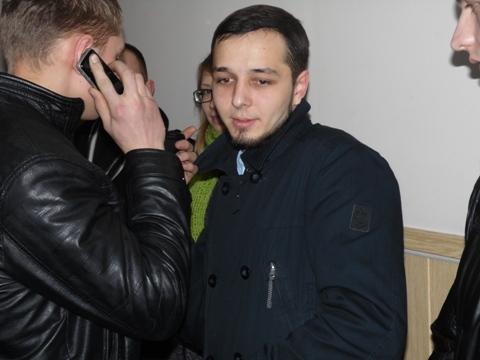 Jurij Pawłenko na sali sądu