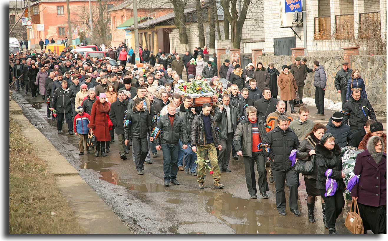 Pogrzeb Leona Polańskiego w Żmerynce