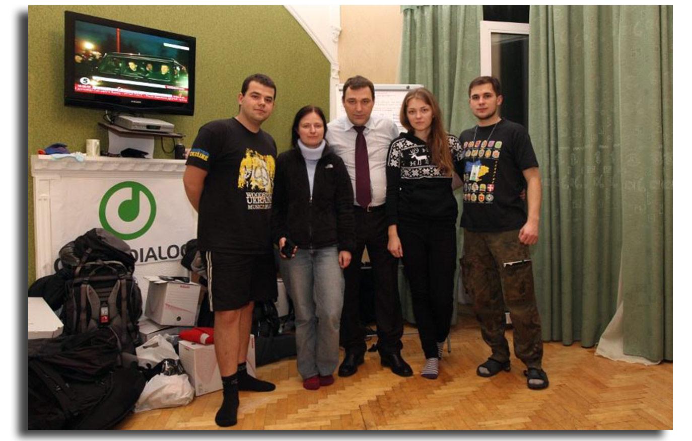 Zdjęcie zostało wykonane w kijowskim biurze Otwartego Dialogu