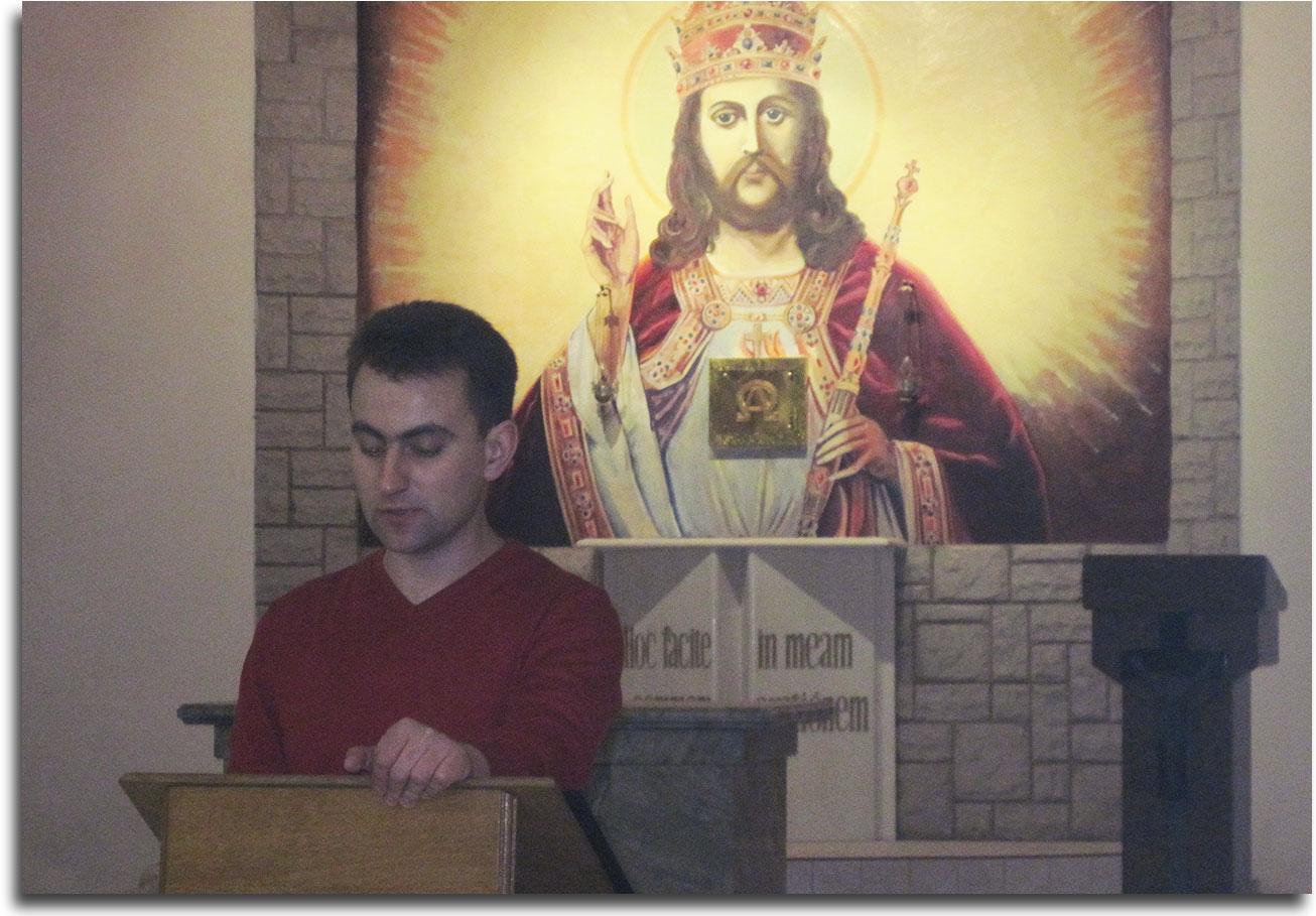 Wasyl Kowal wygłasza referat o JP II
