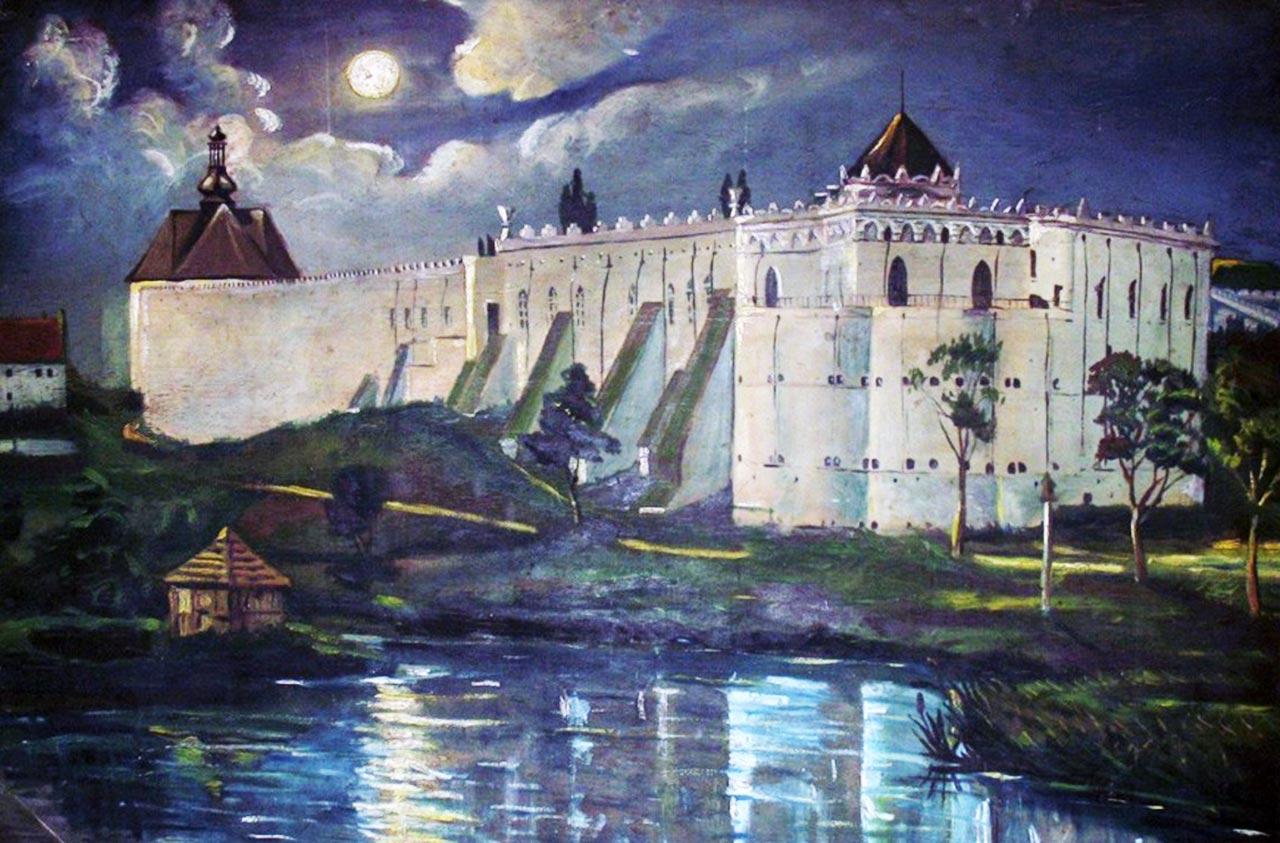 Międzybóżska twierdza na obrazie współczesnego malarza. Źródło: goodrest.com.ua