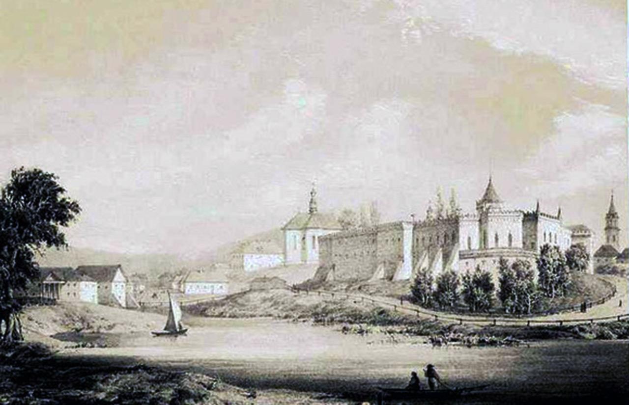 Forteca na szkicu z połowy XIX w.